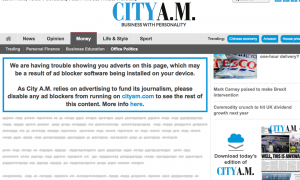 City AM screenshot